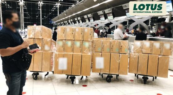 [COVID-19]  ผลงานบริการขนส่งเร่งด่วนพร้อมผู้โดยสารทางเครื่องบิน (On-board Courier)